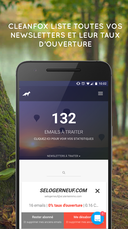 Cleanfox - Clean Your Inbox screenshot 2