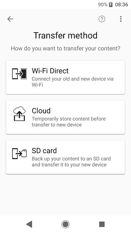 Xperia Transfer Mobile screenshot 2