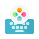 Fleksy Ergonomic Keyboard 2020 -Emoji Keyboard GIF