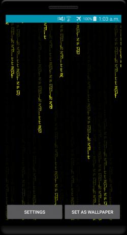 Matrix Digital Rain Hd Live Wallpaper 3