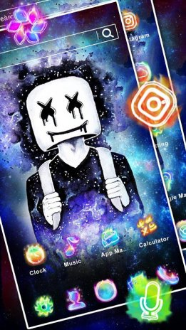 Dj Neon Galaxy Launcher Theme Live Hd Wallpapers 10