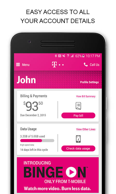 T-Mobile screenshot 1