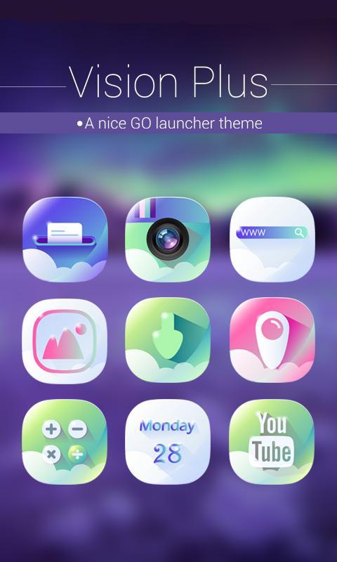 Vision Plus GO Launcher Theme screenshot 1