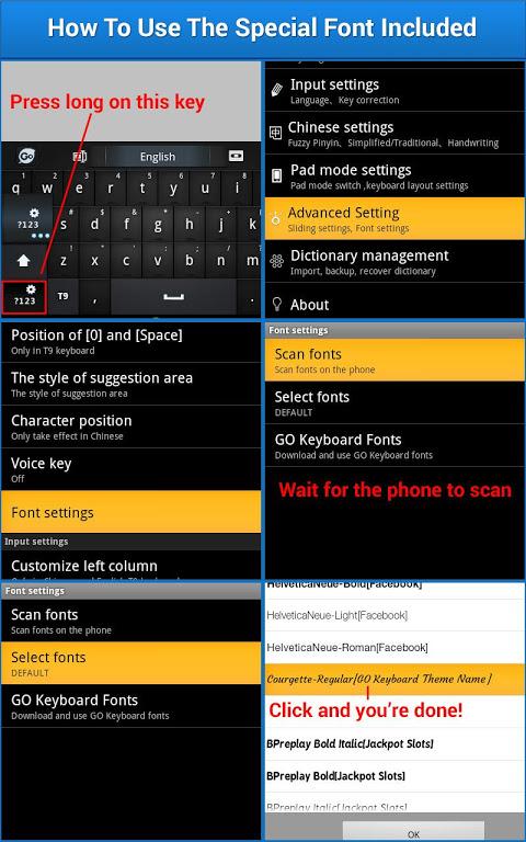 Galaxy Keyboard screenshot 1