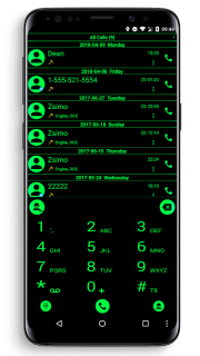 Theme for RocketDial and ExDialer Flat BGreen screenshot 4