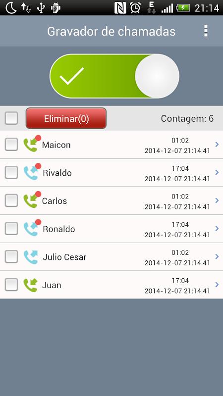 Gravador de chamadas screenshot 1