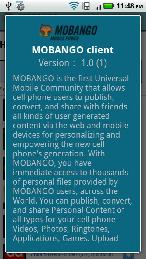 MOBANGO Screenshot