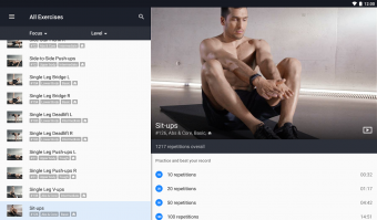 Runtastic Results Training App Screenshot