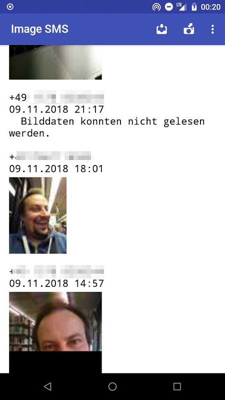 Image SMS screenshot 2