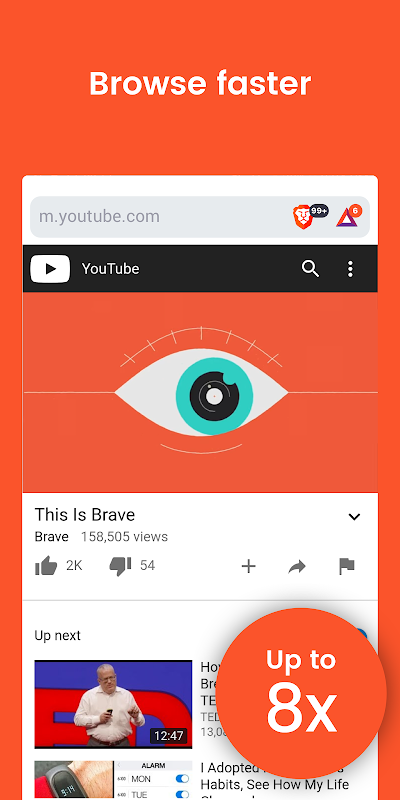 Brave Privacy Browser: Fast, free and safe browser screenshot 2