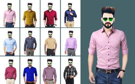 Man Formal Shirt Photo Suit Maker screenshot 4