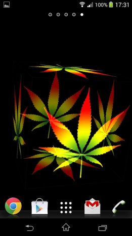 3d Marijuana Rasta Wallpaper Screenshot 1