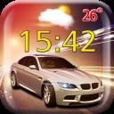 Cars Weather Clock Widget