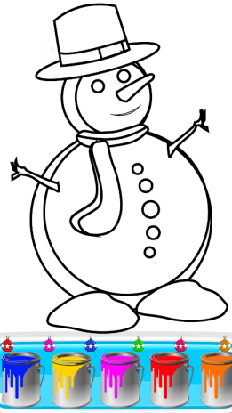 christmas coloring book pages santa coloring game screenshot 3