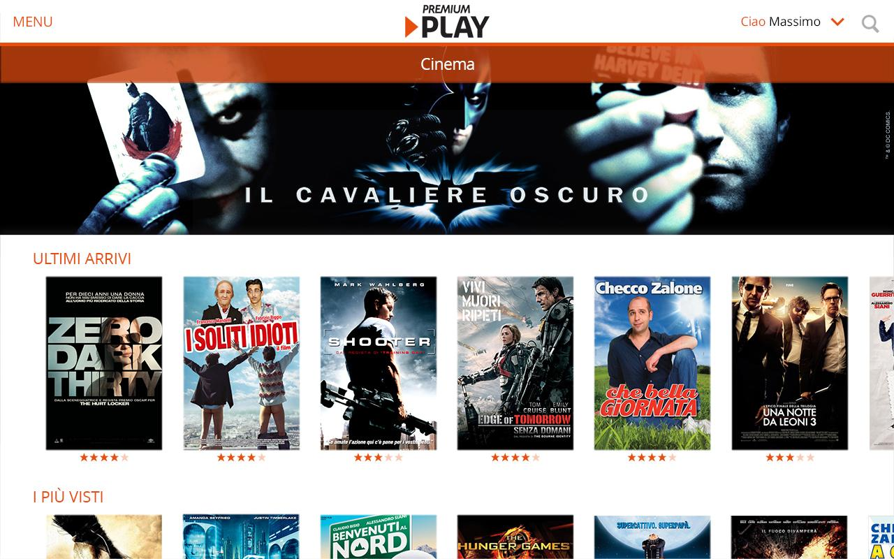 video mediaset premium play