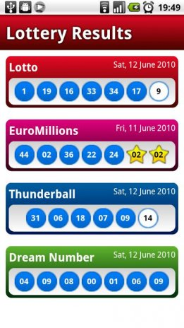 UK Lotto/Lottery Results Free 1 1 0 Free Download APK for