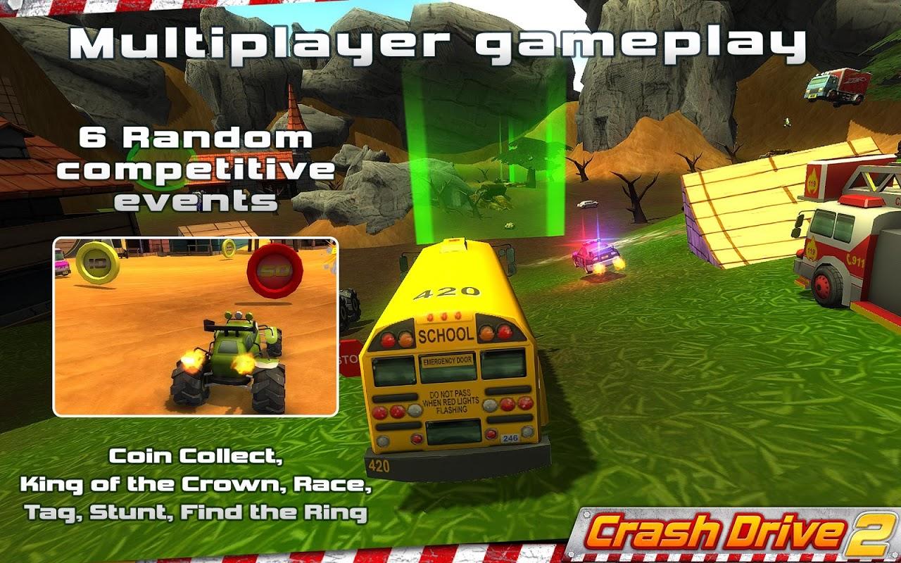 Crash Drive 2: 3D racing cars screenshot 1