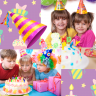 Birthday Party Collage Icon