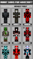 Robot Skins for Minecraft PE Screen