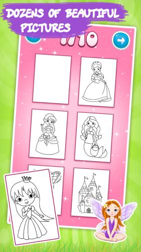 Cocuklar Icin Boyama Kitabi Prensesler 1 9 3 Android Apk Sini