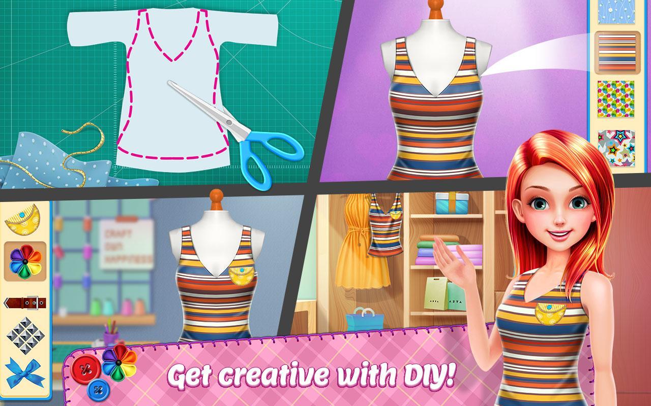 DIY Fashion Star - Design Hacks Clothing Game screenshot 2