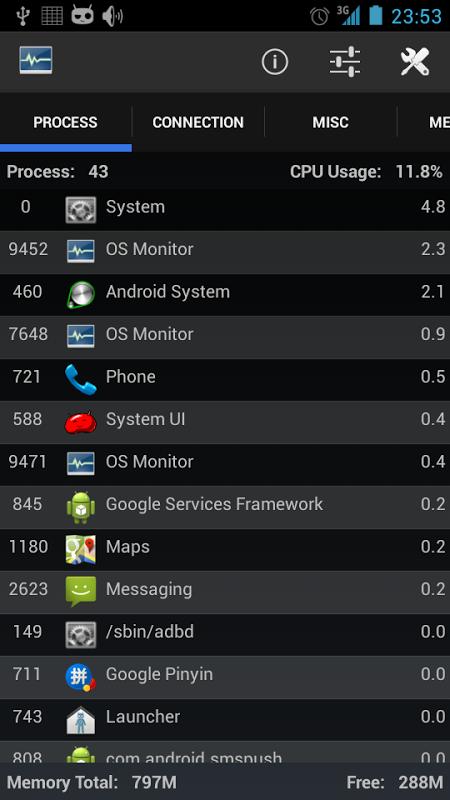 OS Monitor screenshot 2