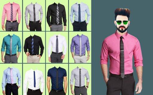 Man Formal Shirt Photo Suit Maker screenshot 5