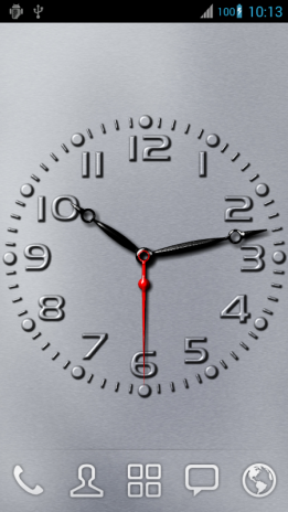 Carved Analog Clock Live Wallpaper 3d With Photo 2 00 Unduh Apk