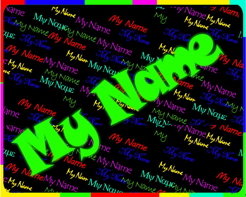 My Name Rain Live wallpaper 1.6