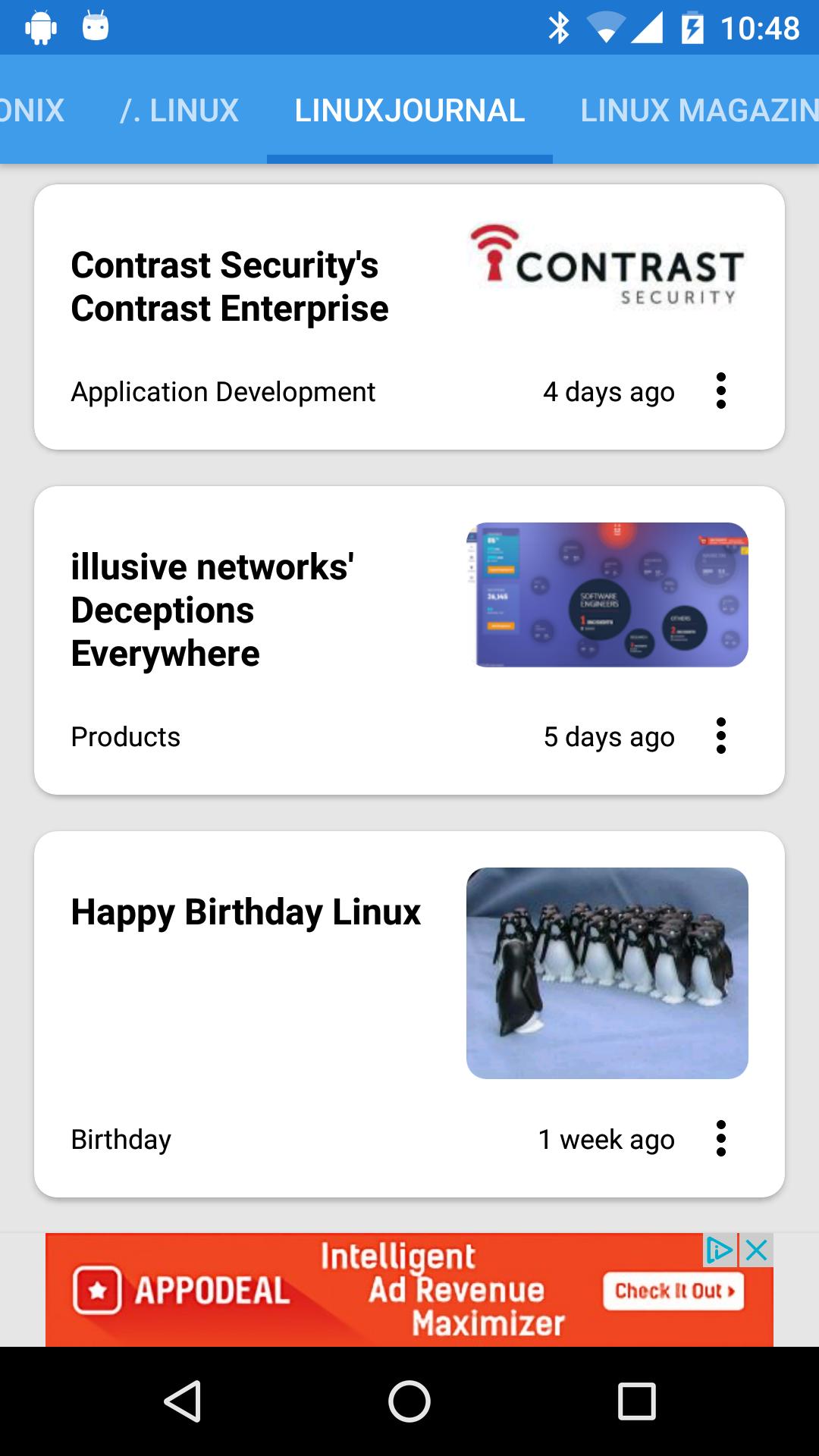 Linux News screenshot 2