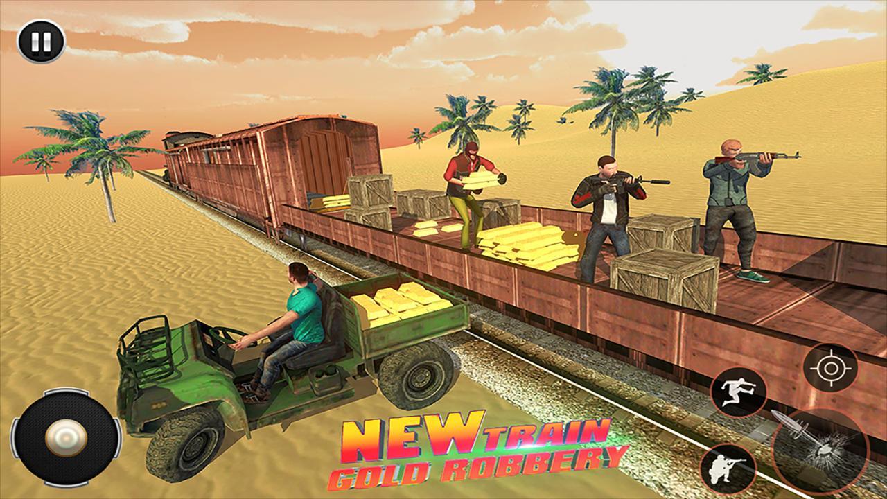 Train Robbery shooting game: Gold Robbery Crime screenshot 1