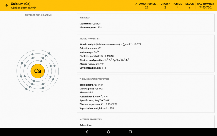 Periodic table 2018 chemistry in your pocket 630 download apk periodic table 2018 chemistry in your pocket screenshot 7 urtaz Images