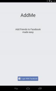 AddMe for Facebook screenshot 1
