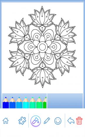 Flower Mandala Coloring Book Screenshot 18