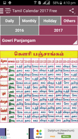 daily hunt tamil