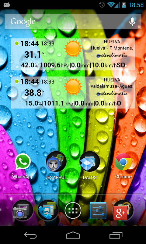 Meteoclimatic screenshot 1
