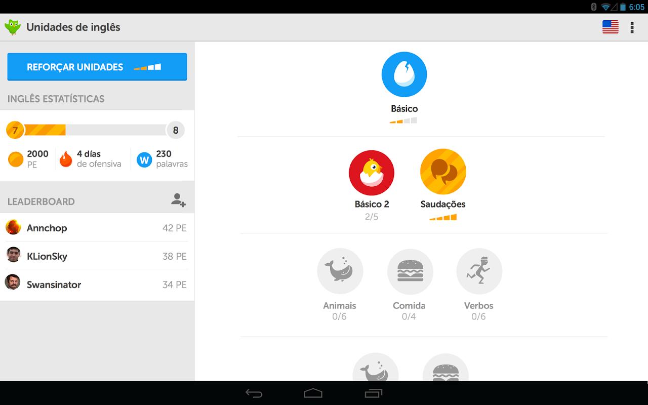 Duolingo: Inglês e Espanhol screenshot 2