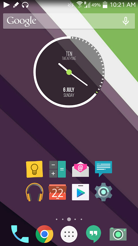 Android L Theme screenshot 1