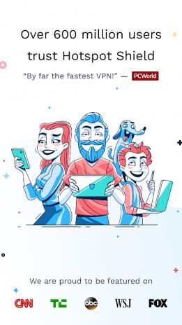 Hotspot Shield VPN Proxy, WiFi 6 9 5 Télécharger l'APK pour
