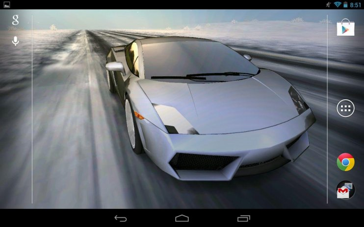 3d Car Live Wallpaper Screenshot 1