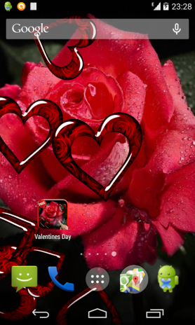 valentine s day live wallpaper screenshot 3 - Live Valentine Wallpaper