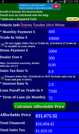 auto car loan payment calculator free 2 5 5 download apk for android