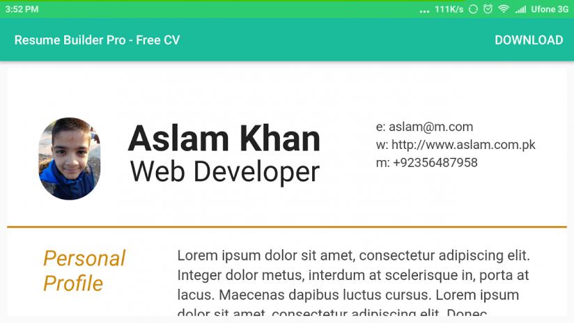 Resume Builder Pro - Free CV 1.0.4 Download APK for Android - Aptoide