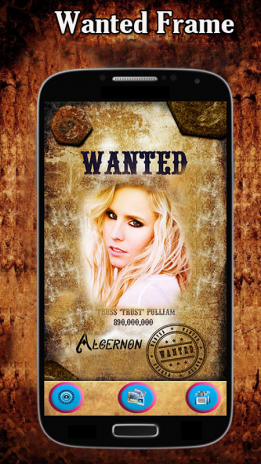 most wanted poster snappic photo editor app screenshot 1 - Most Wanted Picture Frame