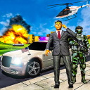 Präsident Lebenssimulator Polizeiauto Hubschrauber