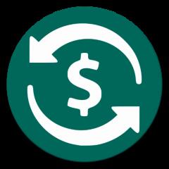 icono de cambio de moneda y convertidor