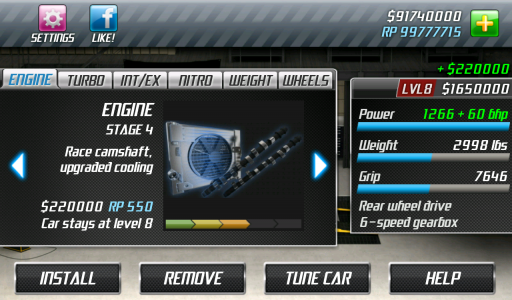 Drag Racing screenshot 1