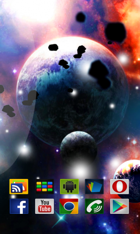 Galaxy S5 Live Wallpaper Space Screenshot 2