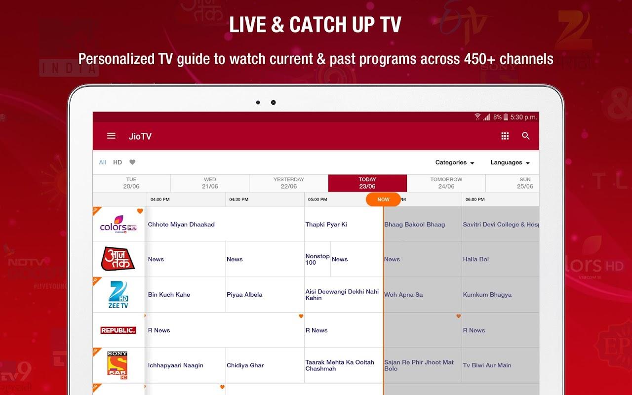 JioTV Live Sports Movies Shows screenshot 1