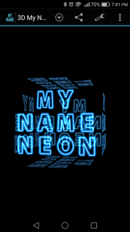 3d My Name Neon Live Wallpaper 4
